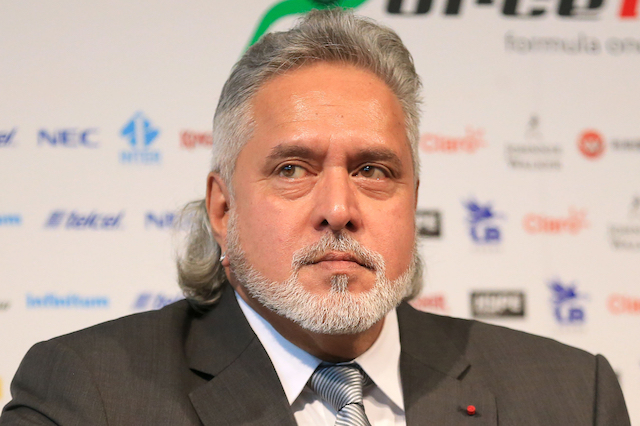 Sahara Force India F1 Team Owner Dr. Vijay Mallya during the Force India 2017 Car Launch at Silverstone, Towcester. ... Force India 2017 Car Launch - Silverstone ... 22-02-2017 ... Towcester ... UK ... Photo credit should read: Nigel French/PA Wire. Unique Reference No. 30219638 ... Picture date: Wednesday February 22, 2017. See PA story AUTO Force India. Photo credit should read: Nigel French/PA Wire. RESTRICTIONS: Editorial use only. Commercial use with prior consent from teams.