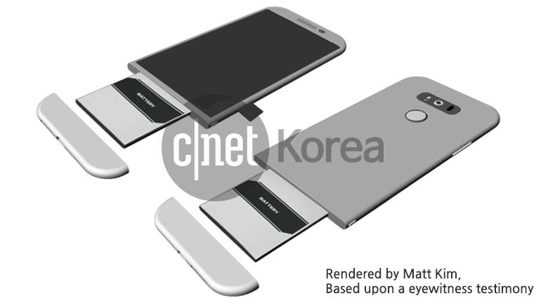 El nuevo LG G5 podría tener este extraño diseño con batería modular