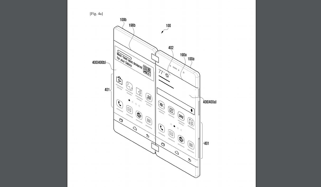 Una nueva patente de Samsung muestra otro diseño de teléfono plegable