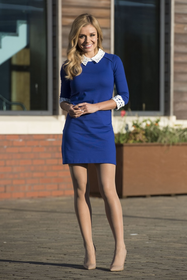 Katherine Jenkins looks amazing in high street minidress