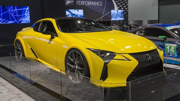 レクサス、来年発売を予定している新型「LC500」のカスタムカーをSEMAショーで披露