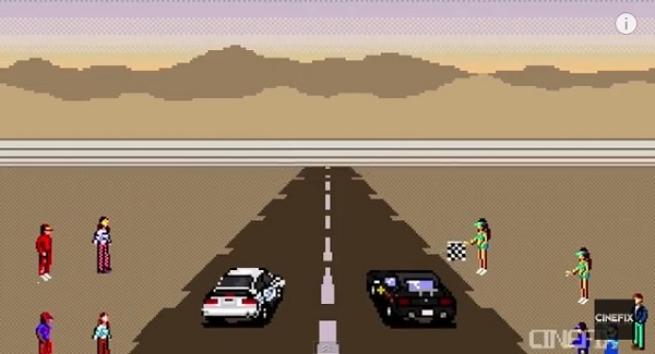 映画『ワイルド・スピード』をファミコン風8ビットで再現した動画がカッコよすぎる