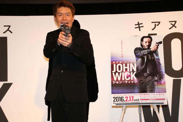キアヌ・リーブスが敵を殺しまくる爽快映画『ジョン・ウィック』応援隊長にキアヌと同い年ヒロミが就任!政界進出について語る!?