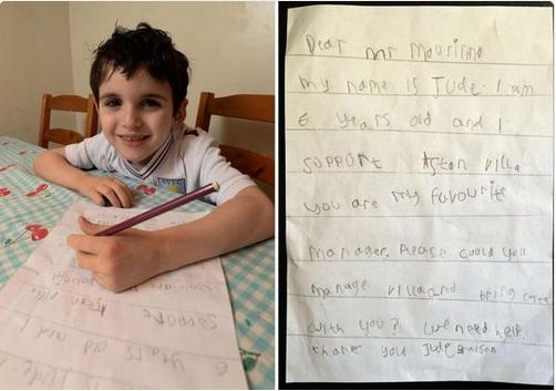 「モウリーニョ監督へ・・・」6歳の少年が贈った手紙が泣けるとネット上で話題に