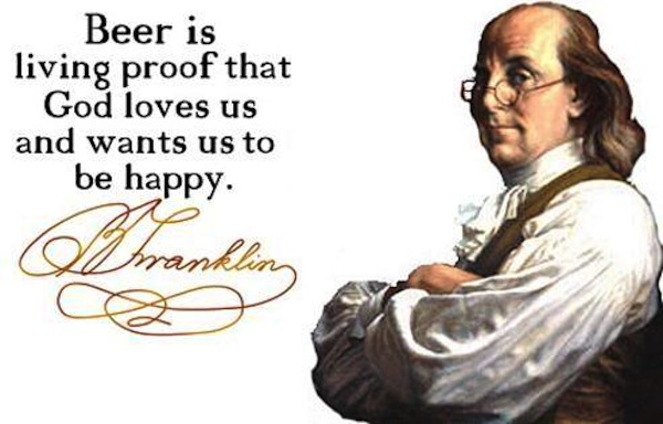 most successful drunks in history, ben franklin