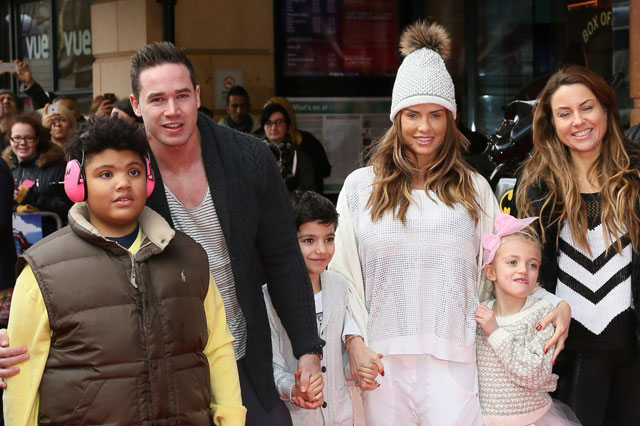 Katie Price with Kieran Hayler and her friend Jane pountney