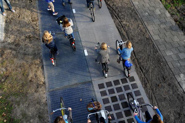 SolaRoad's solar bike path in the Netherlands