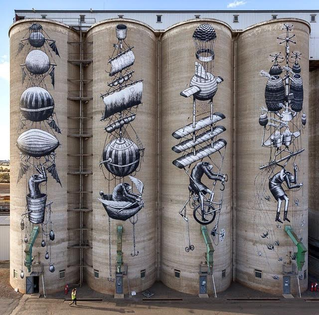 The Incredible Painted Grain Silos Of Northam Western