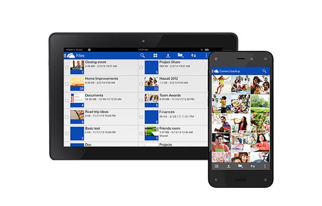 Microsoft OneDrive llega a los Kindle Fire y Fire Phone
