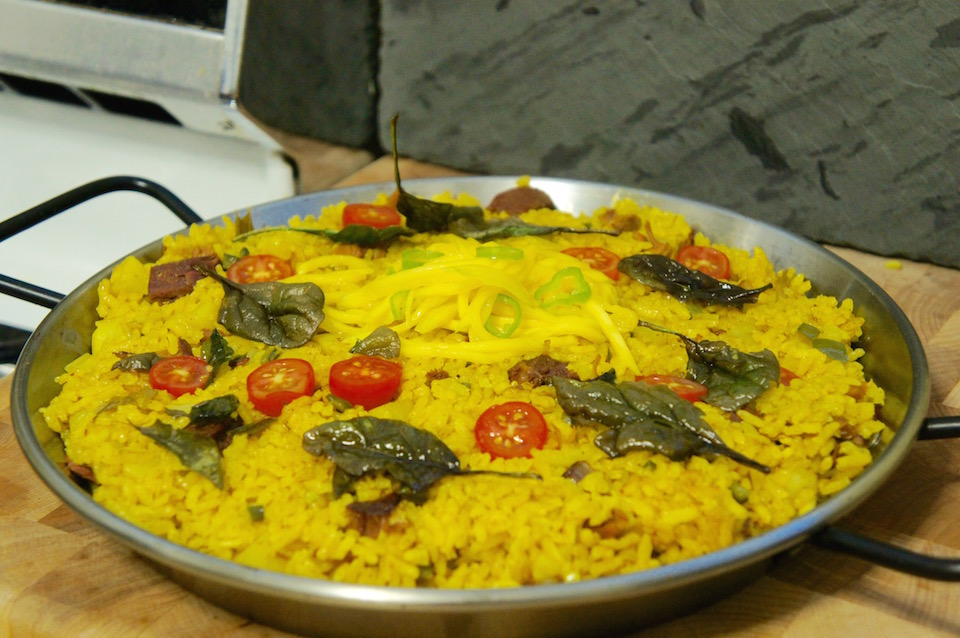 Cooking with Watson: Indian tumeric paella