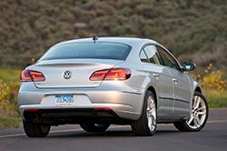 2013 Volkswagen CC - rear three-quarter view