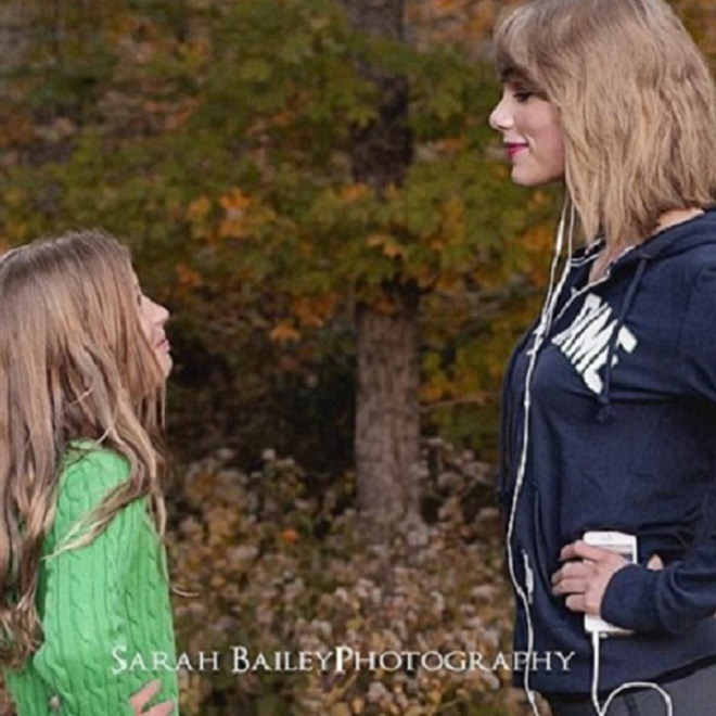 Taylor Swift with fans in Nashville park