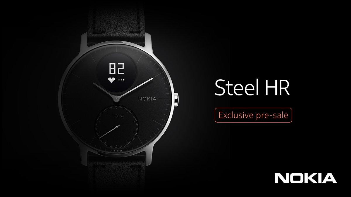 Endlich: Nokia bringt die Smartwatch Steel HR zurück