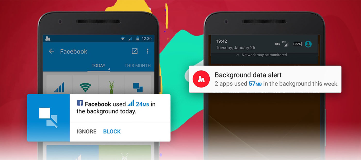 Opera Max alerts you when apps consume data in the background
