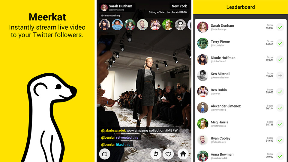 Meerkat reminds users that it has a points system