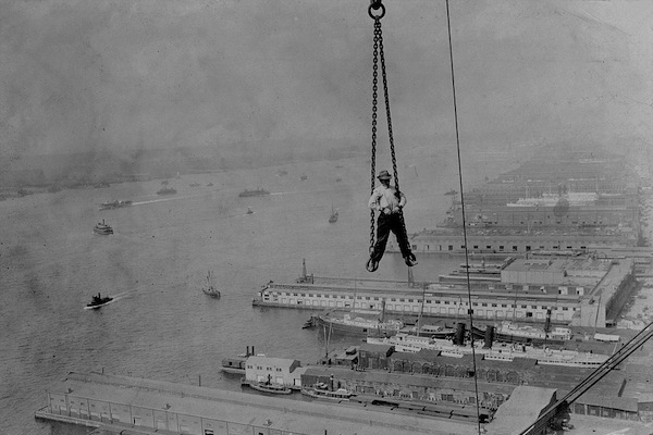 manliest photos on the internet, funny manly images, man hangs 300 feet in air new york