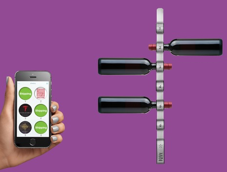 Quirky wine rack could refill itself using Amazon Dash