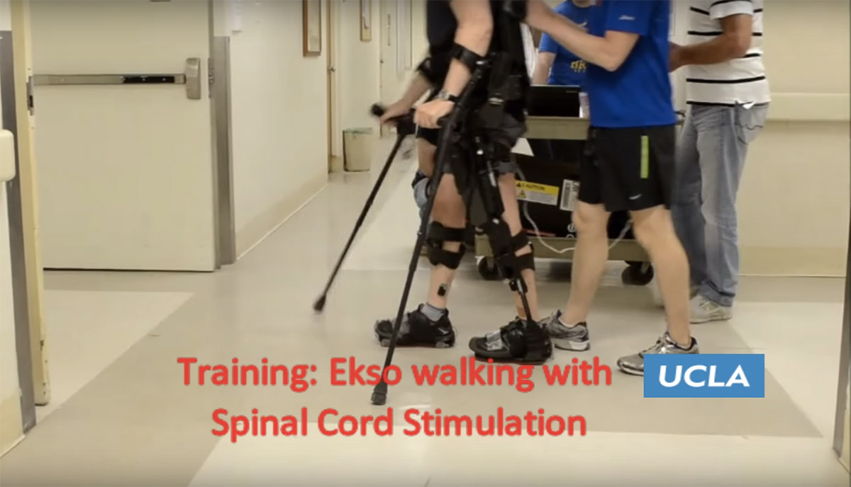 Robotic exoskeleton and zaps of electricity helped man walk again