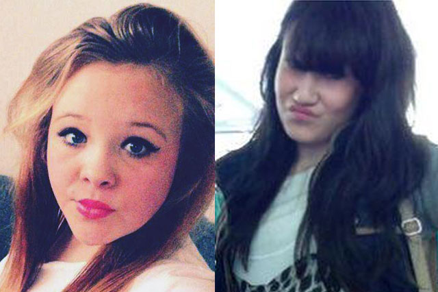 Missing girls Chloe James, 15, and Starlene Dempsey, 12