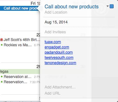 Adding multiple URLs to a calendar event