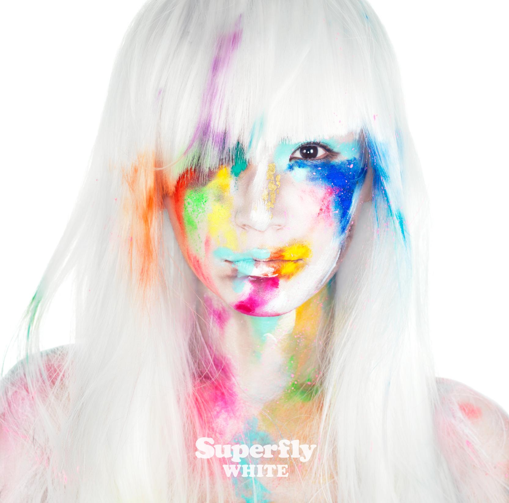 Superfly、「WHITE」&カラフルなニューALジャケットをお披露目