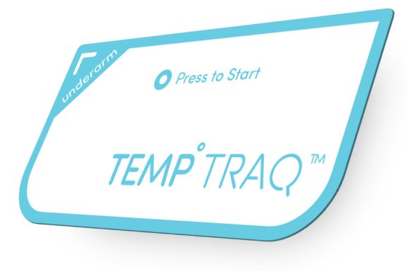 TempTraq wearable soft patch Bluetooth thermometer