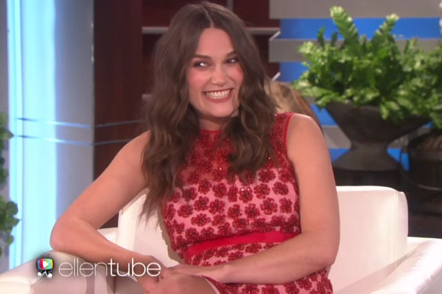 Pregnant Keira Knightly discusses her birth plan with Ellen DeGeneres