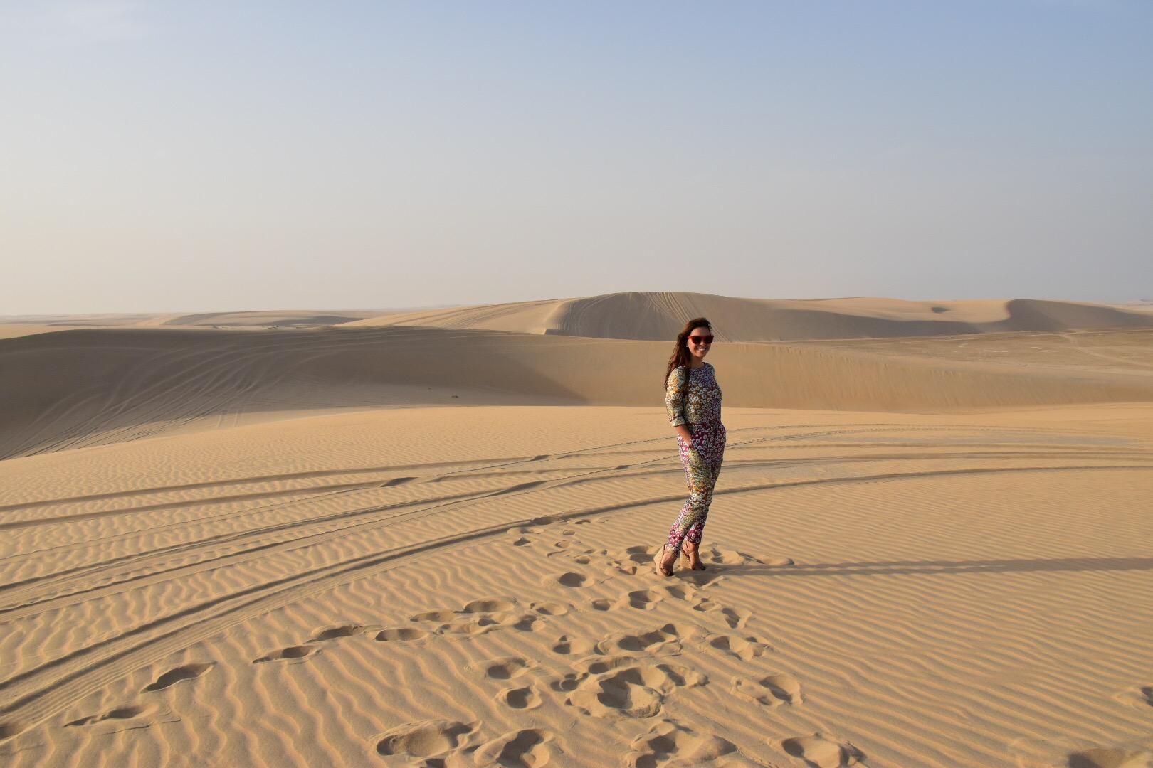 Monique Lhuillier travel diary: Casual walk through the desert!