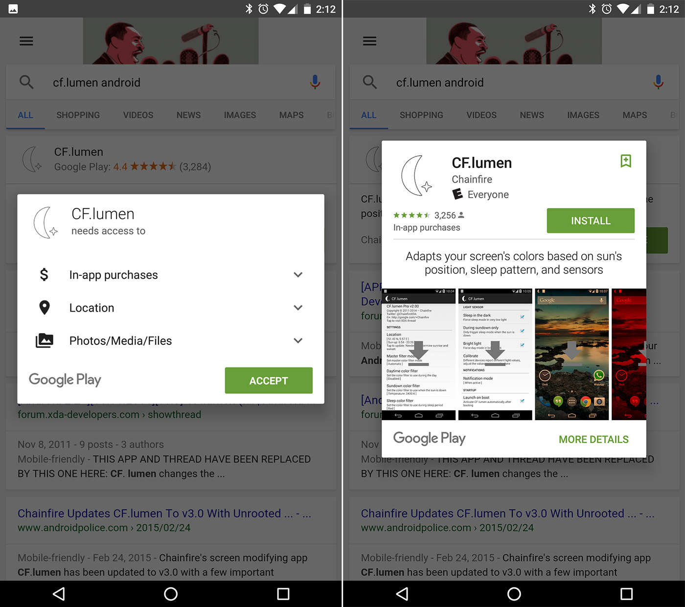 Android users will be able to install apps directly from search