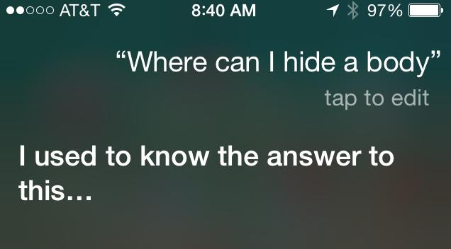 Siri's response to