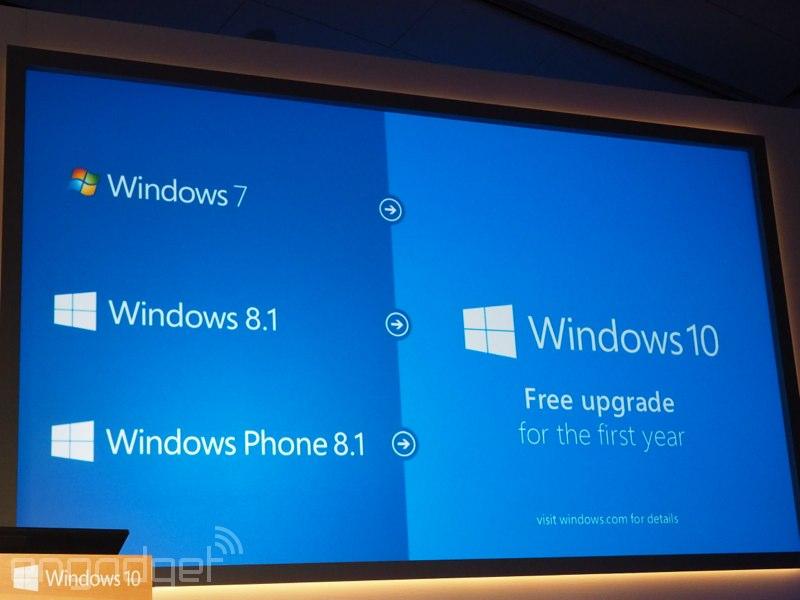 Windows 10 será gratuito como actualización durante el primer año