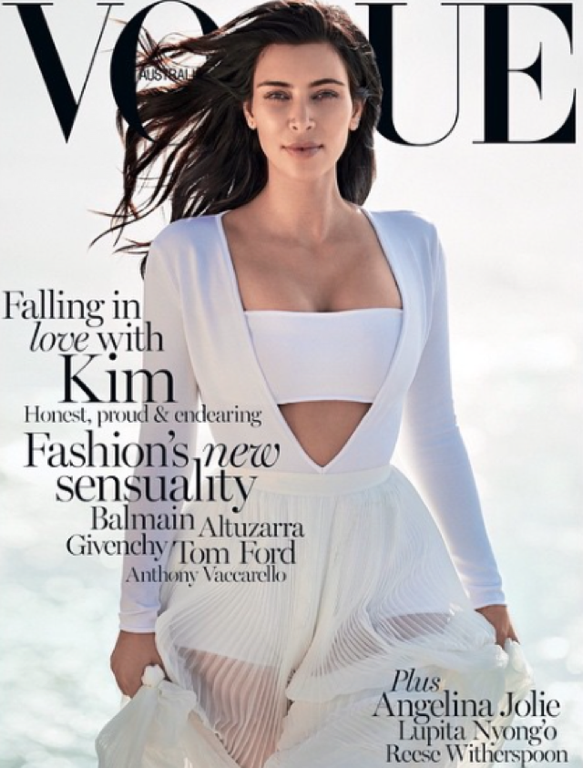 Kim Kardashian Instagrams Australian Vogue cover