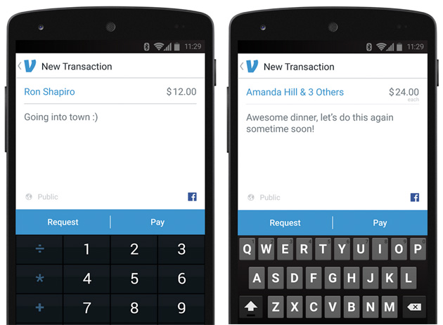 Venmo mobile payments