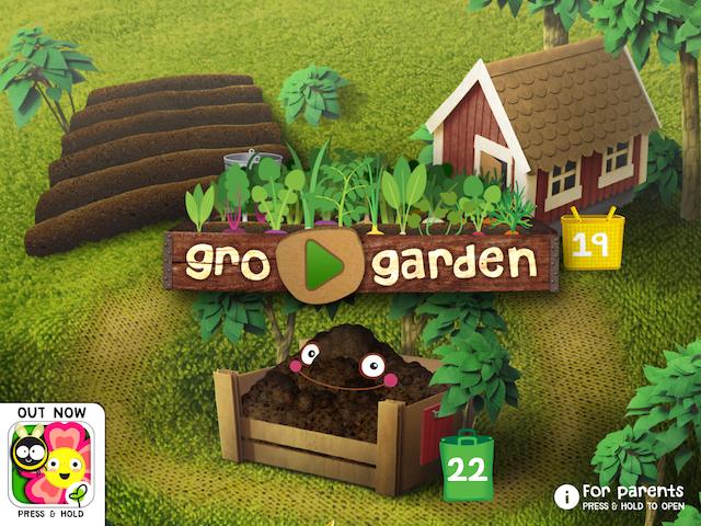 Gro Garden start screen