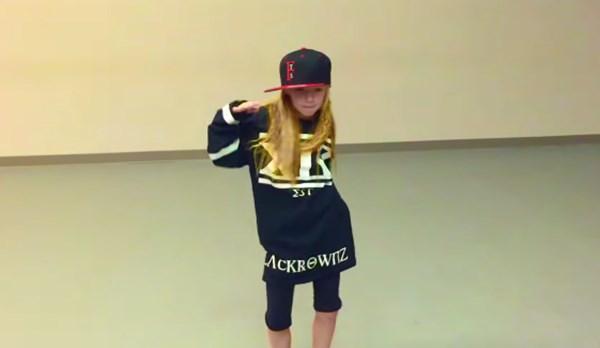 10歳の天才少女が見せる超絶ヒップホップダンスがスゴすぎる【動画】