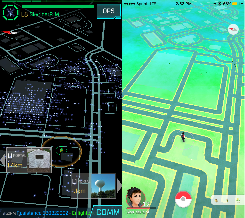 マップは同じ開発元の「niantic」 : やっと配信!「ポケモンgo」を