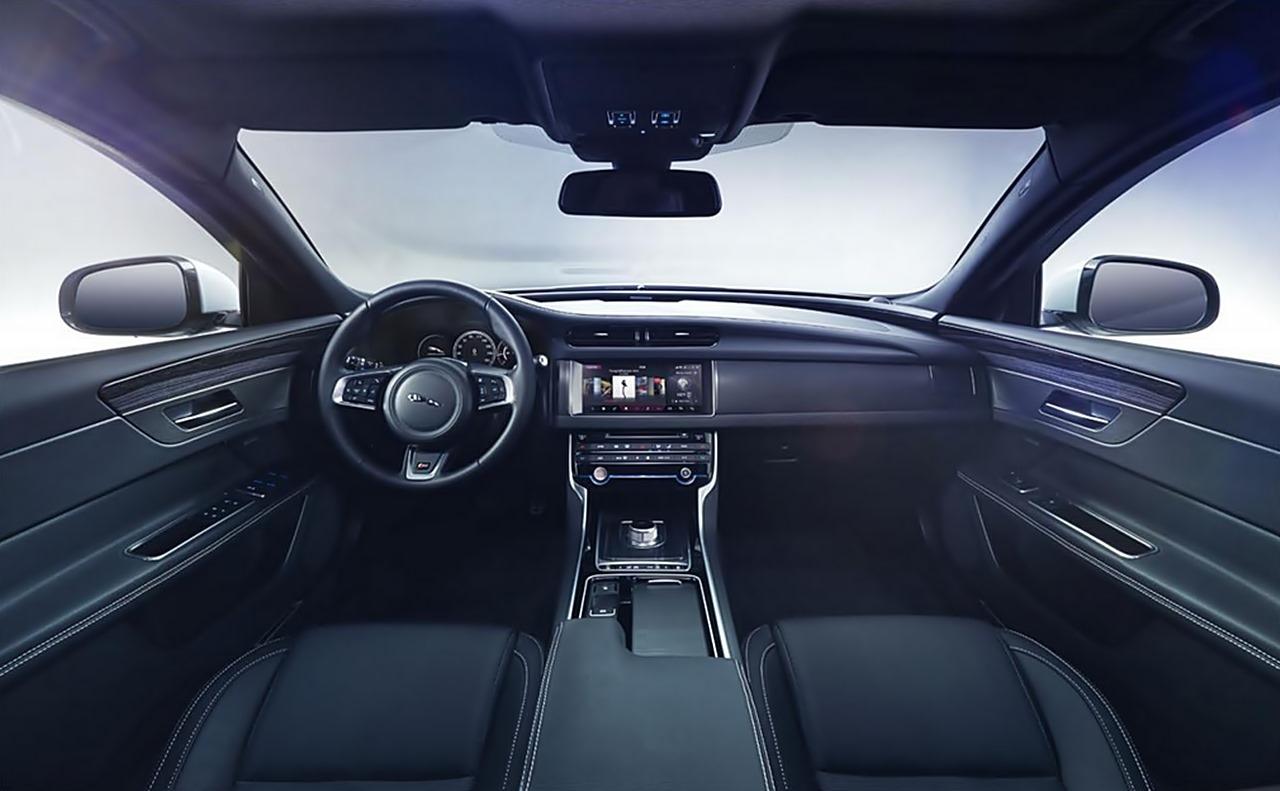 Jaguar XF, Newxf, #newxf,  Jaguar X250, NYIAS, New York auto show, Jaguar XF 2015, Jaguar XF 2016, Premiere, debüt, stunt, wire, interieur, innenraum, bild, foto, video