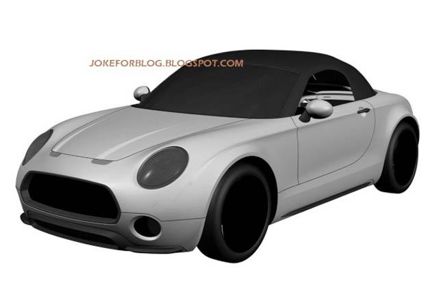 Mini Superleggera roadster patent drawings