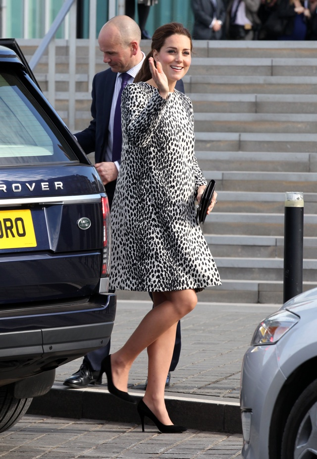 Kate Middleton is stunning in animal-print at Turner Contemporary gallery