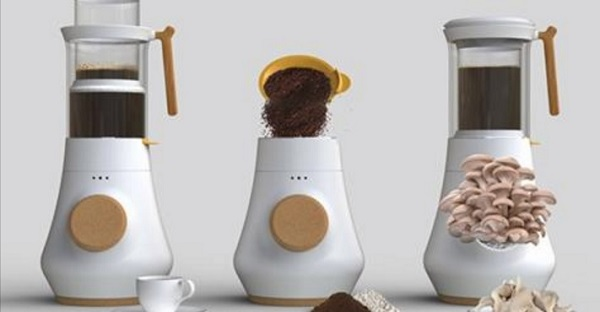 コーヒーの抽出かすを利用してキノコを栽培!? 優れモノのコーヒーメーカーが登場