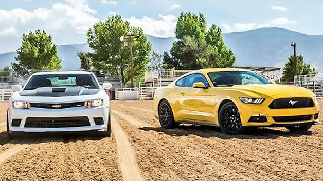 2015 Ford Mustang and 2015 Chevy Camaro