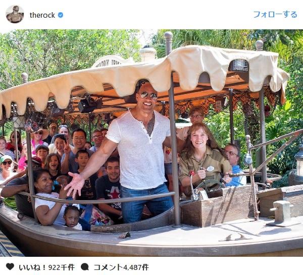 ドウェイン・ジョンソンが、ディズニー・ワールドのジャングルクルーズにサプライズ登場!