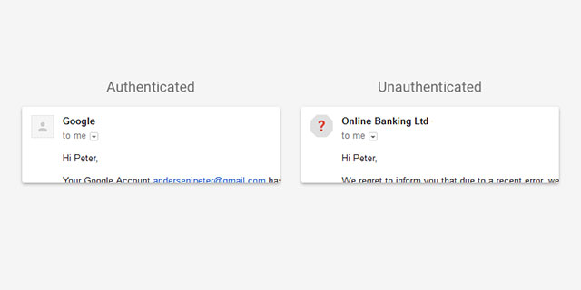 Gmail gets visual cues to alert you to suspect emails