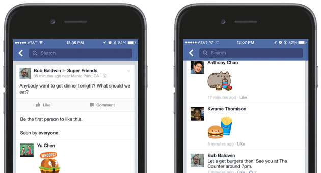 Brace yourselves: Facebook stickers are coming to comments