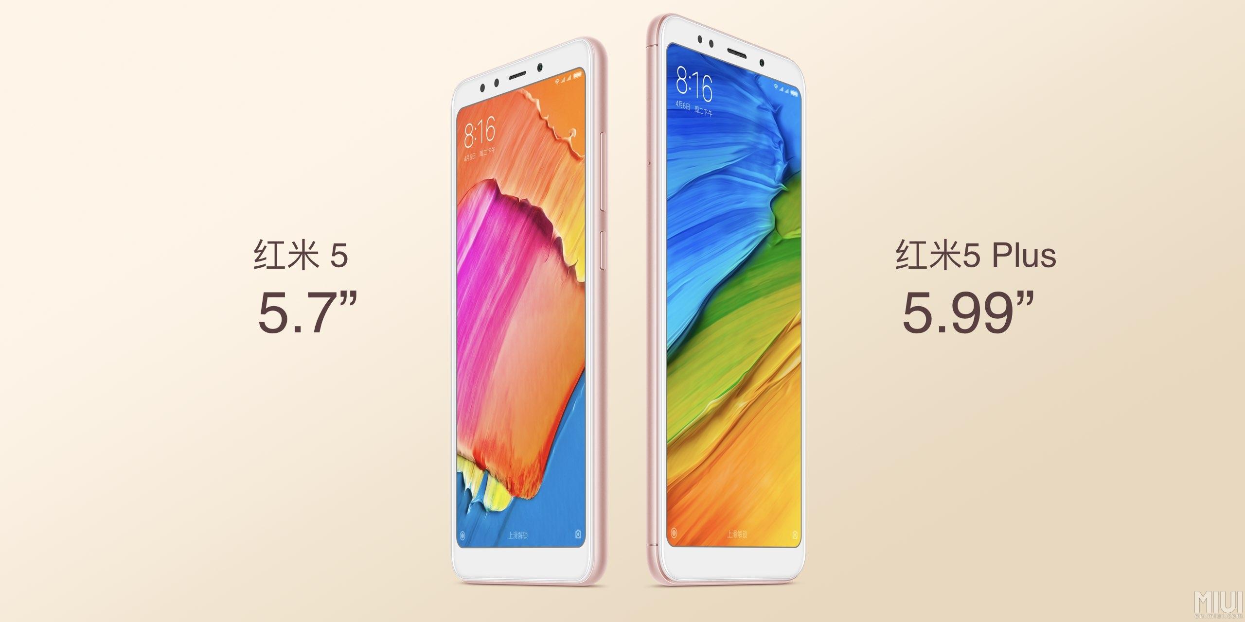 Los baratísimos Redmi 5 de Xiaomi llegan con sus pantallas panorámicas a España
