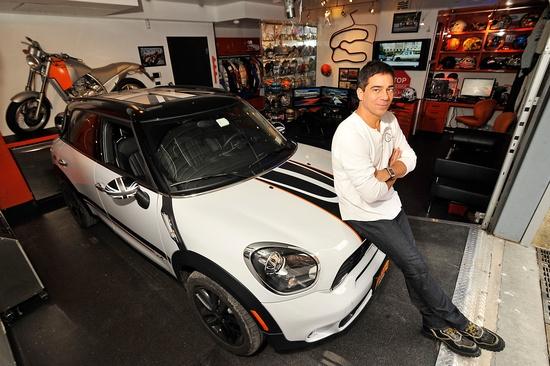 alan wilzig in his garage