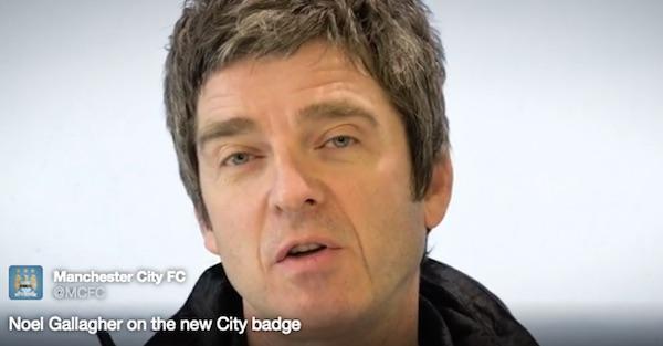 ノエル・ギャラガー、マンチェスター・シティの新エンブレムにご満悦 「今すぐタトゥーでどデカく入れたいね」【動画】