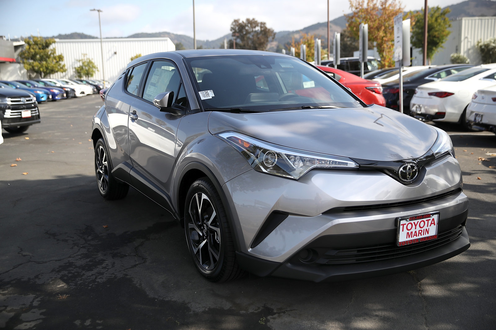 SAN RAFAEL, CA - SEPTEMBER 05:  A brand new non-hybrid version of the Toyota C-HR is displayed on a sales lot at Toyota Marin on September 5, 2018 in San Rafael, California.  Toyota annouced plans to recall over one million Prius and C-HR crossover sport-utility vehicles globally to fix an electrical system issue that could cause a fire. The vehicles affected by the recall are certain 2016-2018 Prius cars, Prius Prime plug-in hybrids and hybrid versions of the C-HR. Nearly 200,000 Prius cars in the United States will be affected.  (Photo by Justin Sullivan/Getty Images)