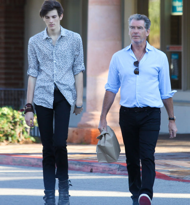 Pierce Brosnan's model son Dylan towers over former James Bond