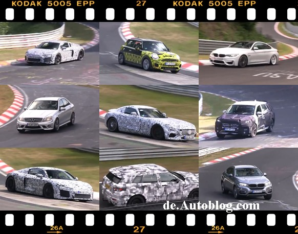 audi, BMW, erlkönig, featured, film, Grüne Hölle, Mercedes, Nürburgring, Porsche, prototypen, spy shot, testwagenfahrer, video, Volkswagen, VW